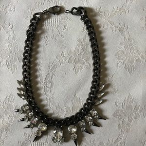Fallon choker chain gunmetal necklace